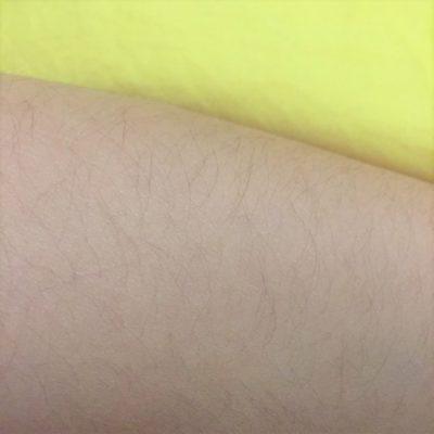 橙子的手臂的毛很长