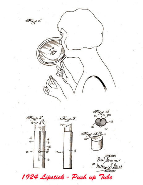 旋转式的口红管